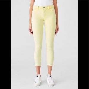DL 1961 Florence Cropped Mid rise skinny Citrus